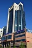 De bouw geroepen ZEVENDE CONTINENT in Astana Stock Foto
