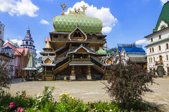 De bouw Izmailovo het Kremlin, Moskou, Rusland stock afbeelding