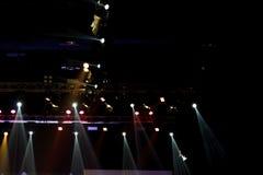 De bouw licht pari van de prestaties bewegend verlichting royalty-vrije stock foto