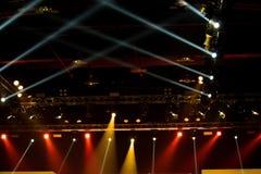 De bouw licht pari van de prestaties bewegend verlichting royalty-vrije stock afbeeldingen