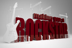 De bouw makend u rockstar Stock Foto