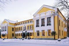 De bouw met gele muren royalty-vrije stock foto