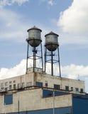 De bouw met silo's Royalty-vrije Stock Foto's