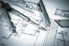 De bouw, project Stock Afbeelding