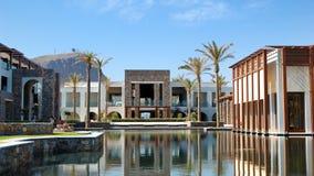 De bouw, restaurant, zwembad Royalty-vrije Stock Afbeeldingen