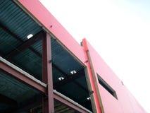 De bouw Rode Industriële Bouw Royalty-vrije Stock Afbeelding