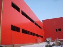 De bouw Rode Industriële Bouw Royalty-vrije Stock Fotografie