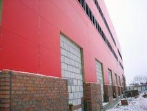 De bouw Rode Industriële Bouw Royalty-vrije Stock Afbeeldingen