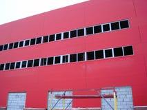 De bouw Rode Industriële Bouw Stock Foto