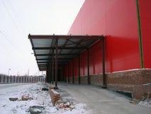 De bouw Rode Industriële Bouw Royalty-vrije Stock Foto