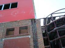 De bouw Rode Industriële Bouw Royalty-vrije Stock Foto's