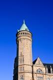 De bouw Spuerkeess, de toren Stock Fotografie