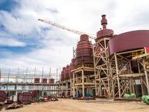 De bouw structuur in fabriek Stock Afbeelding