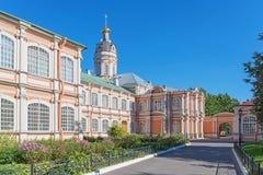 De bouw van Alexander Nevsky Lavra Stock Afbeelding