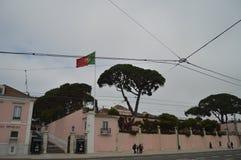 De bouw van de Algemeen secretaris Of The Presidency in Belem in Lissabon Aard, Architectuur, Geschiedenis, Straatfotografie apri royalty-vrije stock fotografie