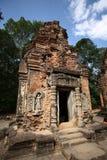 De bouw van Angkor-Tempels--Bakong Wat, Kambodja Stock Foto