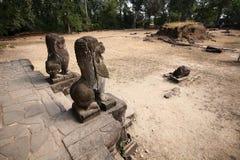 De bouw van Angkor-Tempels, Kambodja Stock Foto's