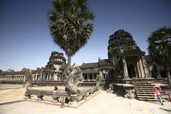 De bouw van Angkor-Tempels, Kambodja Stock Afbeelding