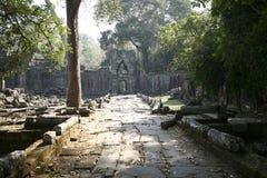 De bouw van Angkor-Tempels -- Preah Khan Wat, Kambodja Royalty-vrije Stock Fotografie