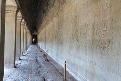 De bouw van Angkor Wat in de ochtend, Kambodja Royalty-vrije Stock Fotografie