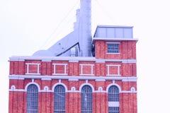 De bouw van antieke fabriek Stock Foto's