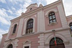 De bouw van Archeologisch Museum in het centrum van stad van Burgas, Bulgarije stock foto
