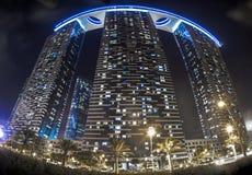 De bouw van de de Architectuuruitstraling van Abu Dhabi stock foto
