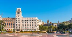 De bouw van Banesto in Barcelona Royalty-vrije Stock Fotografie