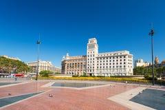 De bouw van Banesto in centrum van Barcelona Stock Afbeelding
