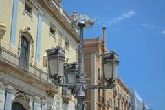 De bouw van Barcelona Stock Foto's