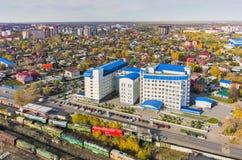 De bouw van belastingsinspectie Tyumen Rusland Stock Fotografie