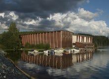 De bouw van beroemde Opera på Skäret royalty-vrije stock afbeeldingen