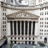 De bouw van de Beurs van New York Stock Foto's