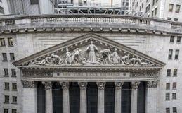 De bouw van de Beurs van New York Royalty-vrije Stock Foto's