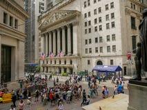 De bouw van de Beurs van New York royalty-vrije stock foto