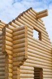 De bouw van blokhuis Stock Foto