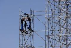 De bouw van bouwvakkers Stock Fotografie