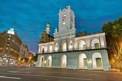 De bouw van Cabildo in Buenos aires, Argentinië Stock Foto's