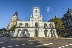 De bouw van Cabildo in Buenos aires, Argentinië Stock Afbeelding
