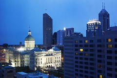 De Bouw van Capitiol van de staat in Indianapolis van de binnenstad stock afbeelding