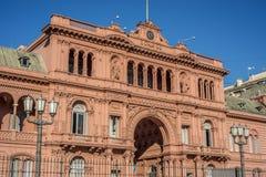 De bouw van Casarosada in Buenos aires, Argentinië Stock Fotografie