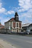 De bouw van Centraal station in Praag Stock Afbeelding