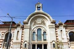 De bouw van Centrale Sofia Market Hall - Architectuur van bij het begin van de 20ste eeuw in Sofia Royalty-vrije Stock Foto's