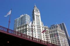 De Bouw van Chicago Wrigley stock afbeelding