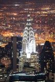 De Bouw van Chrysler in de Stad van Manhattan New York Stock Afbeeldingen