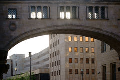 De bouw van complexe Duitse Bank Berlijn Stock Afbeelding