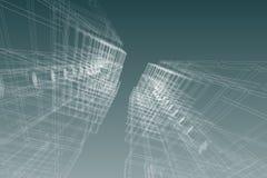 De bouw van de architectuurtekening structuur 3d illustratie Stock Afbeelding