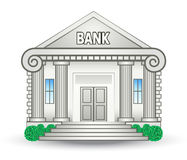 De Bouw van de bank stock illustratie