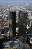 De bouw van de bank in Frankfurt Royalty-vrije Stock Fotografie