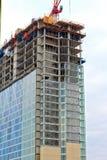 De bouw van de binnenstad Stock Foto